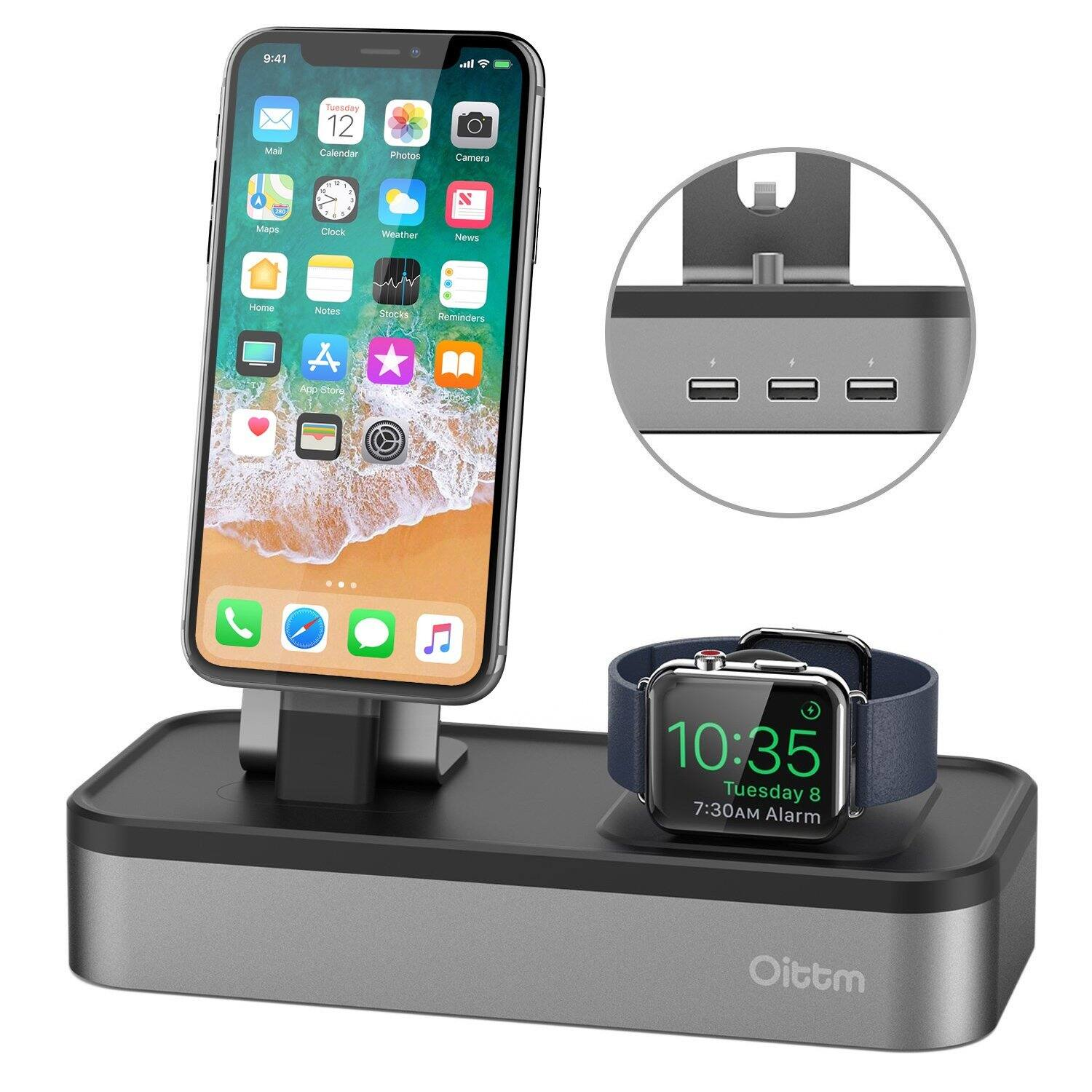 5-port USB Rechargeable for Apple iWatch Series 3/2/1 Stand for $26.21 @Amazon AC+FS