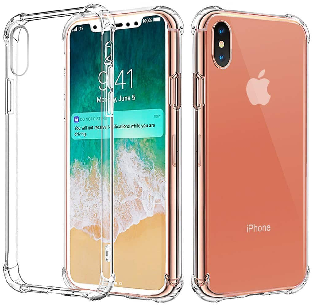 Matone iPhone X Case Crystal Clear Soft TPU Design, Supports Wireless Charging $2.80 AC + FS w/ Prime