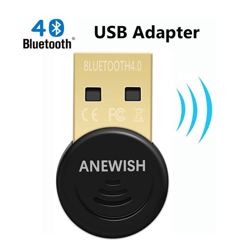 ANEWISH Bluetooth Adapter for PC, Desktop Laptop Tablet, USB Bluetooth 4.0 Dongle for 6.59 $6.59