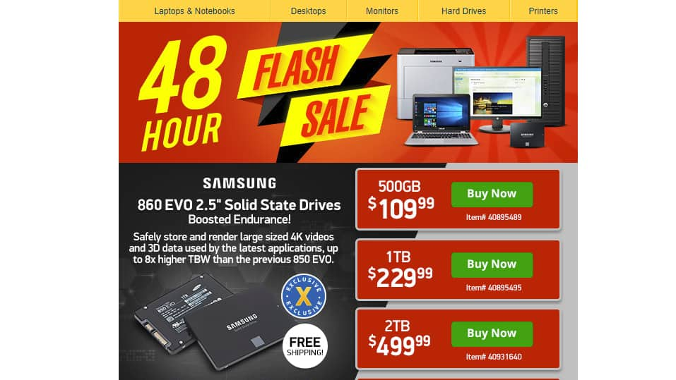 TigerDirect 48 Hour Flash Sale $59.99 - $6999.00