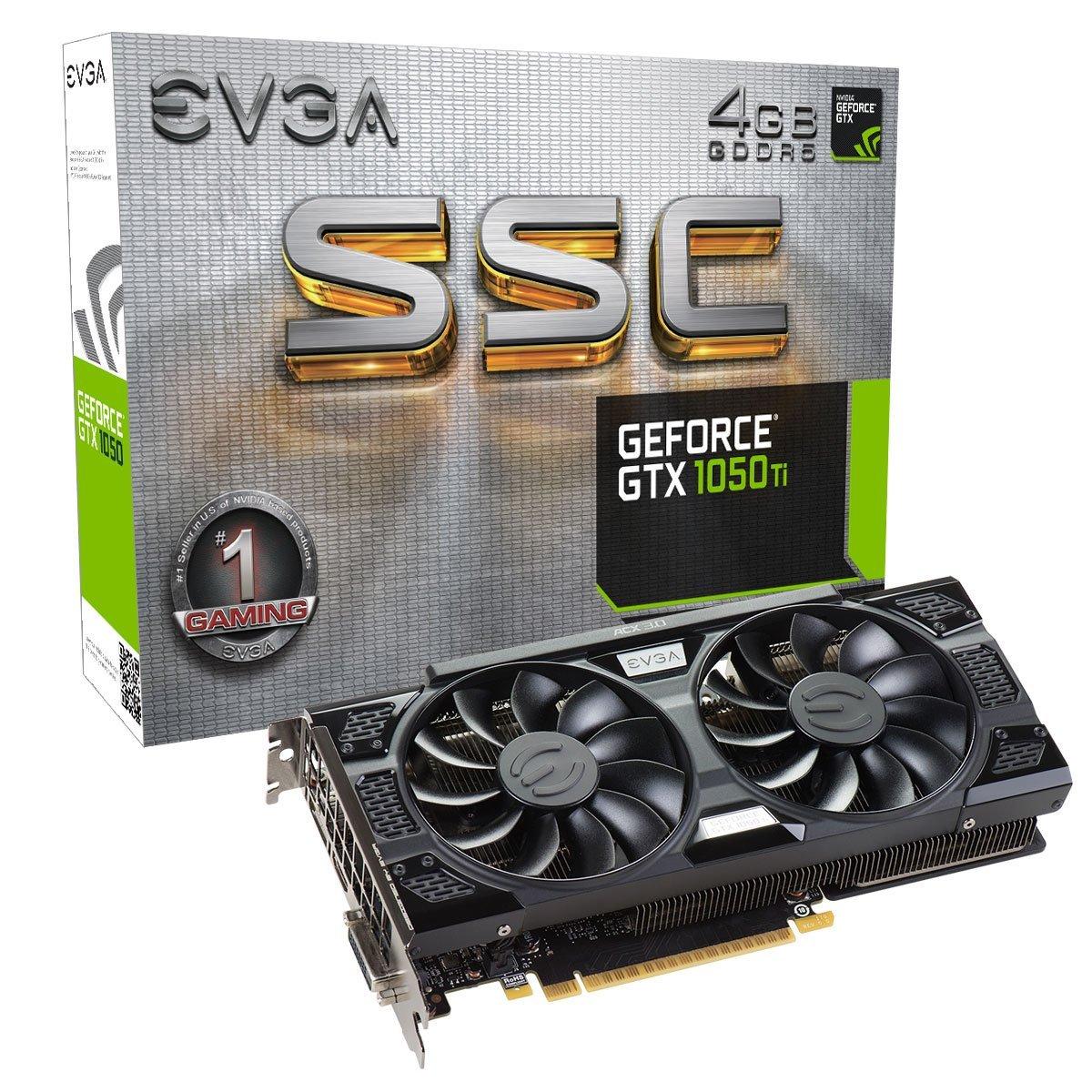EVGA GeForce GTX 1050 Ti SSC GAMING ACX 3.0, 4GB GDDR5 $209 @ Amazon