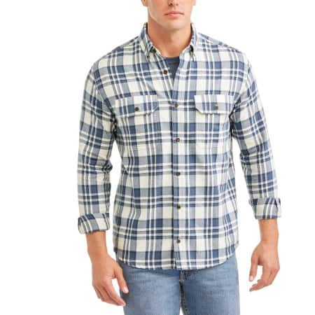 Faded glory men's long sleeve flannel shirt $3 in-store