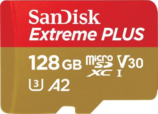 SanDisk - Extreme PLUS 128GB microSDXC UHS-I Memory Card $19.99
