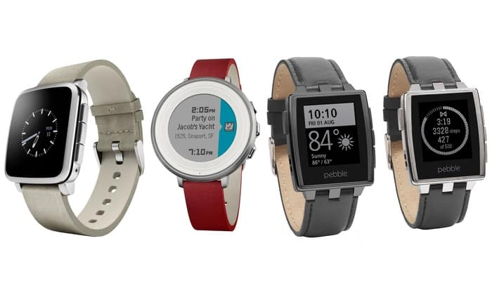 New Groupon Customers: Pebble Time Round iPhone/Android Red/Silver Smartwatch NEW $82.50 / Pebble Time Steel NEW $105 + Free Shipping!