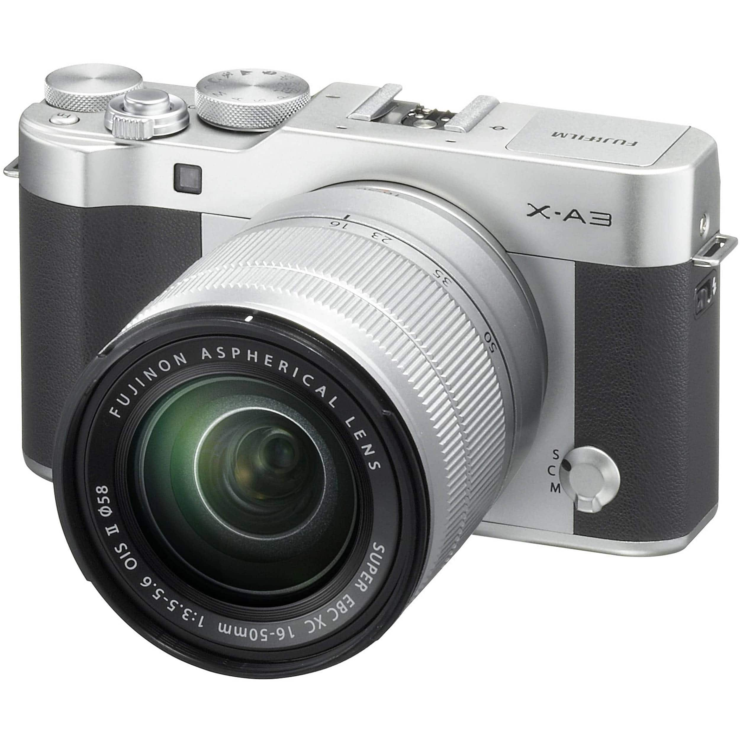 Fujifilm X-A3 Mirrorless w/ 16-50mm OIS II Lens - $349 + Tax - Free S&H after 25% Off Adorama via Google Express