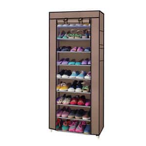 10 Tiers 9 Lattices Shoe Rack Shelf Storage $13.99