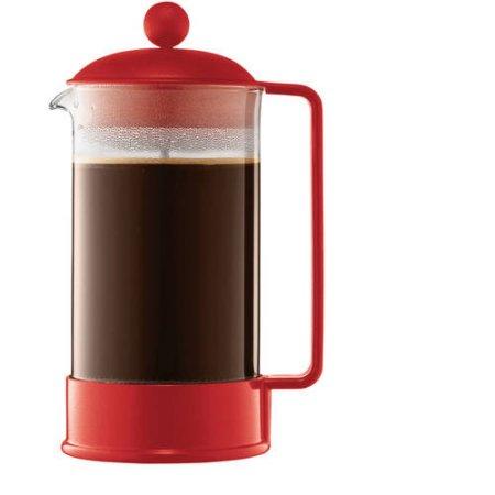Bodum Brazil French Press Coffee Maker, 8-Cup, 34 oz Red $10.14