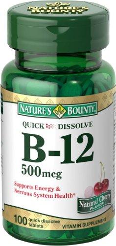100-Count Nature's Bounty B-12 500 Mcg Microlozenge $1.85 + Free S/H @ Amazon