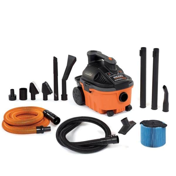 Ridgid 4-Gallon 5.0-Peak HP Portable Wet/Dry Vac w/ Auto Detailing Kit $69 + Free Shipping