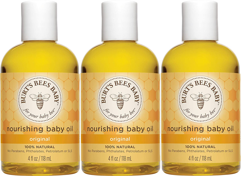 [3 Pack] Burt's Bees Baby Nourishing Baby Oil 4oz Bottles $7.21
