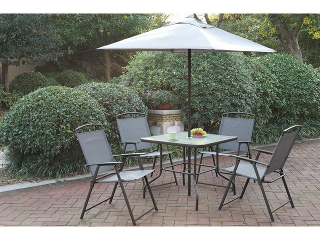 6-Pcs Steel Frame Outdoor Patio Dining Set $150 + Free Shipping