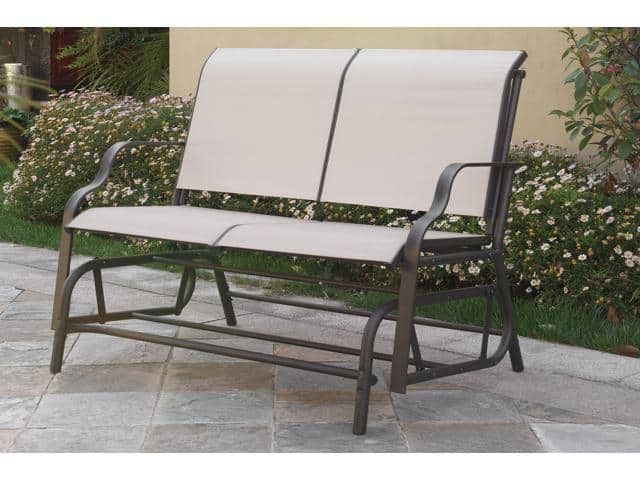 Poundex Outdoor Glider Loveseat - Beige $50 + Free Shipping