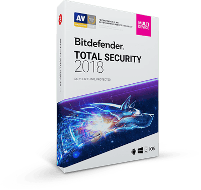 BitDefender Antivirus Plus 2018 (3 Devices/1 Year), Internet Security 2018 (3 Devices/1 Year), or Total Security 2018 (5 Devices/1 Year) $25