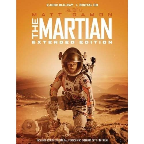 The Martian [Extended Edition] [Blu-ray] [2 Discs] [+Digital] [2015] $12 + Tax