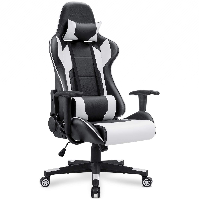 Homall White Gaming Chair Office Chair High Back Computer Chair - $88.24