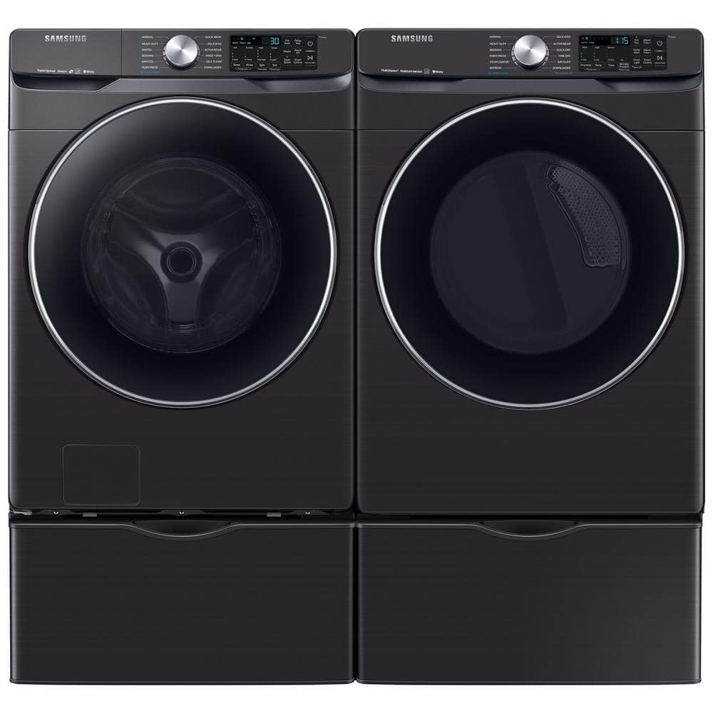 Samsung Electric Washer and Dryer Combo Black Stainless Steel $1556 @ HD