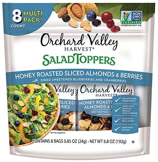 Save 34% on ORCHARD VALLEY HARVEST Salad Toppers, Honey Roasted Sliced Almonds & Berries! $9.68