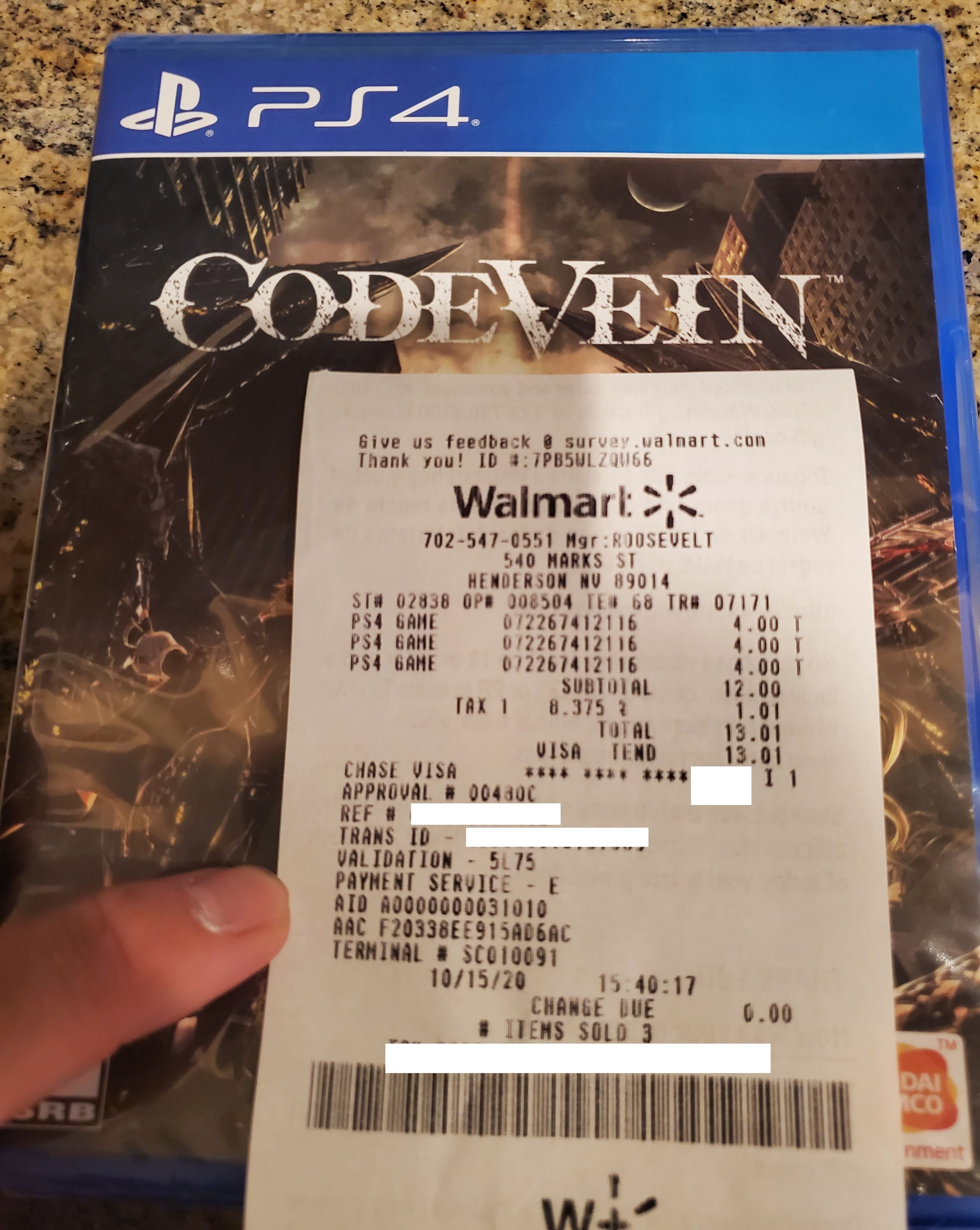 Code Vein (PS4) & Bloodstained: Ritual of the Night (PS4) - $4 at Walmart Clearance (YMMV)