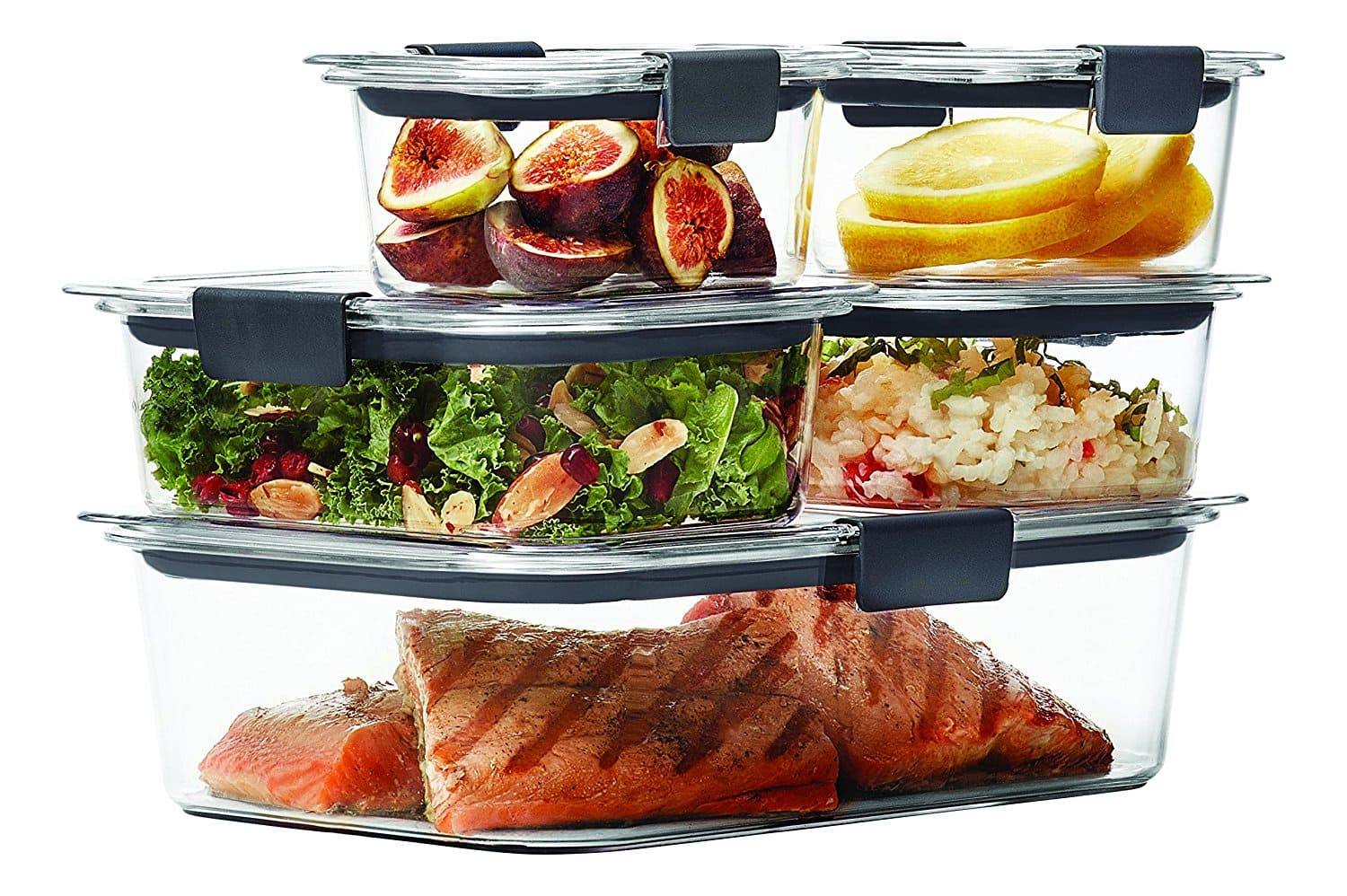 10-Piece Set Rubbermaid Brilliance Food Storage Container 100% Leak-Proof, Plastic, Clear - $11.39 at Amazon