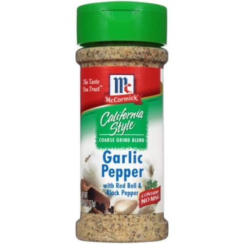Add-On Item: McCormick California Style Garlic Pepper, 2.75 oz for $2.99 at Amazon