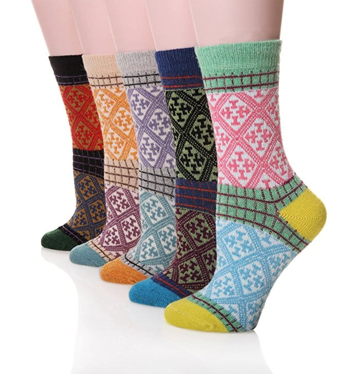 5-Pack Women's Winter Soft Thick Knit Warm Crew Socks for $3.50 @Amazon