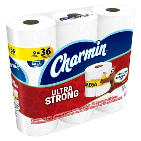 9 Mega Rolls Charmin Ultra Strong Toilet Paper for $7.99 @Walgreens