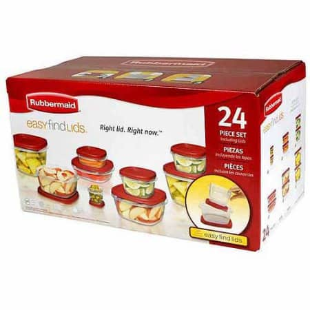 24-Pc Rubbermaid Easy Find Lids Food Storage Container Set for $10 + Free store pickup