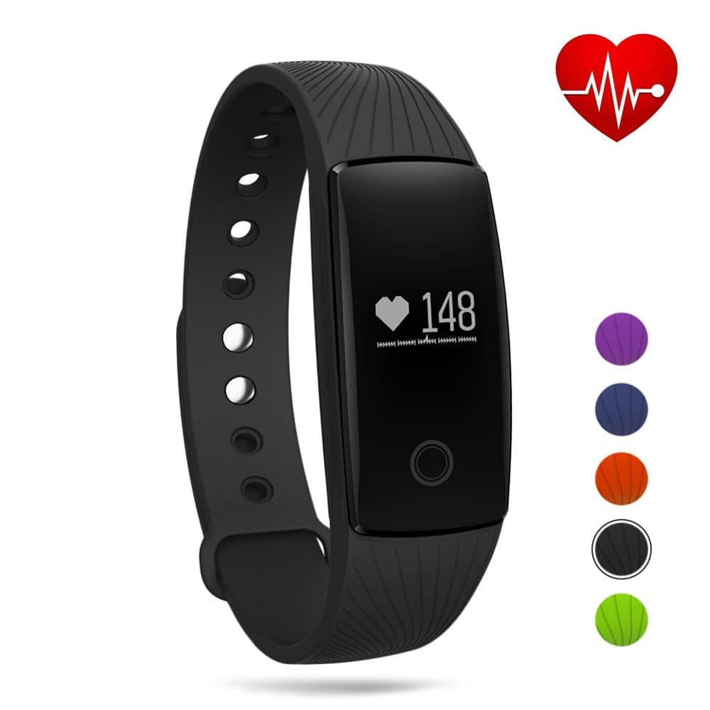 GBlife Bluetooth Smart Fitness Tracker Watch with Heart Rate Monitor for Android & iOS - $12.99