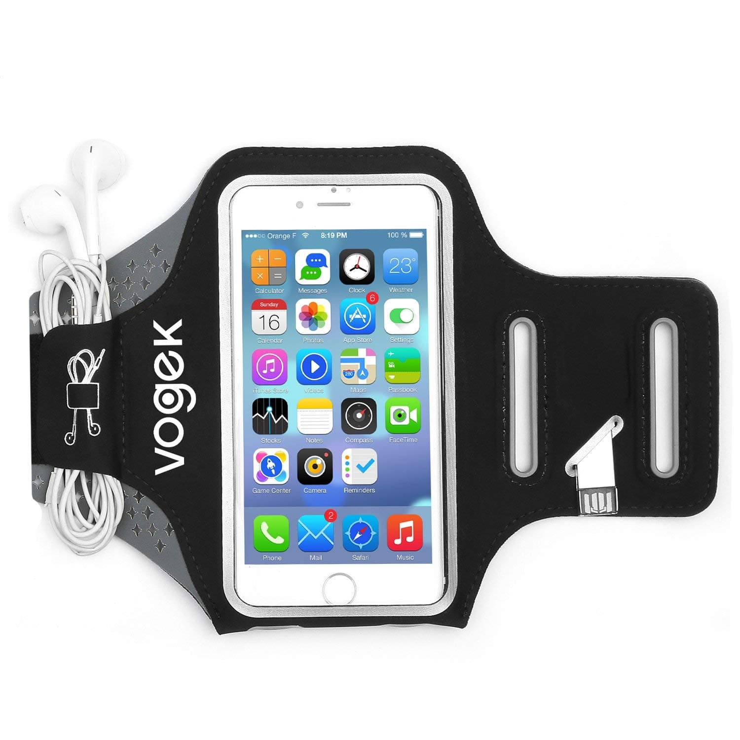 Vogek Sweatproof and Adjustable Arm Band, Suitable for iPhone6/6s Samsung S5/S6/S7 & more $5.49 @Amazon