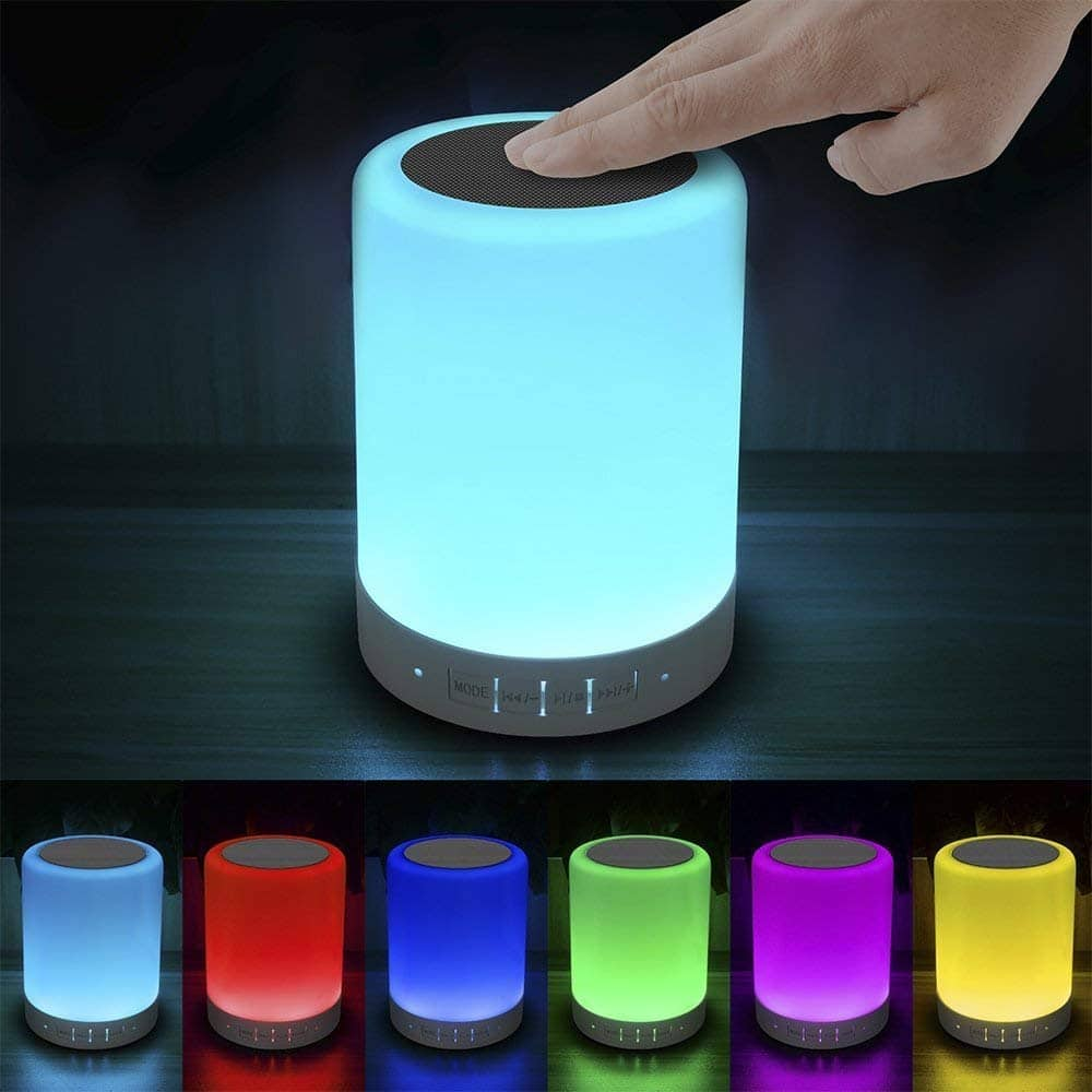 Elecstars Dimmable Bedside Lamp with Bluetooth Speaker & Smart Touch Control for $14.81 + Free Shipping