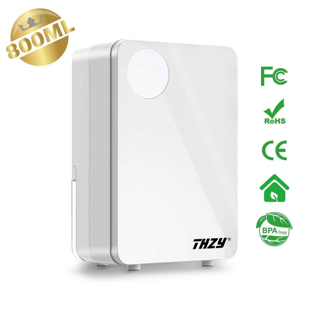 800ML Small Thermo-electric Semiconductor Dehumidifier, White for $22.99 + Free S/H