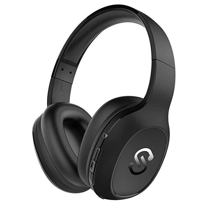 Bluetooth Wireless Over Ear Headphones with 20 Hours Playing time and Mic for Cellphone/Tablet (Black) $23.79 + FS