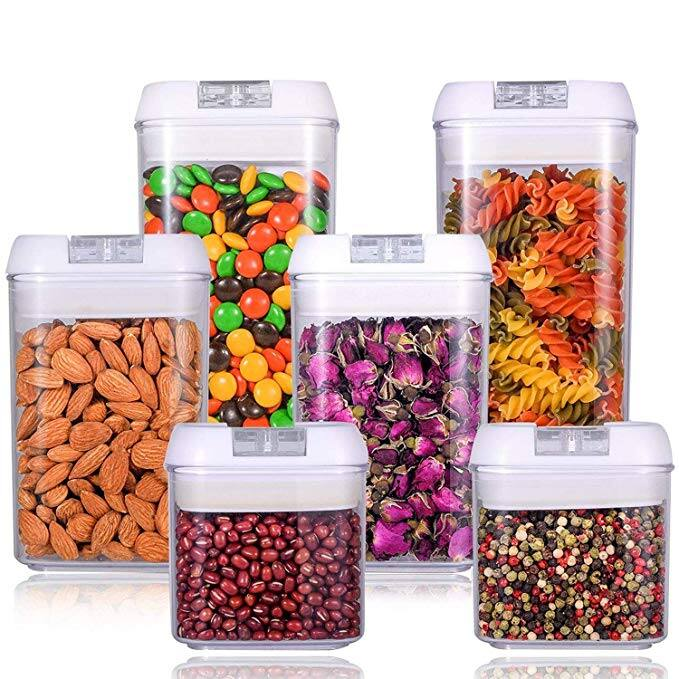 6 Piece Air Tight BPA Free Food Storage Container Set for 2096