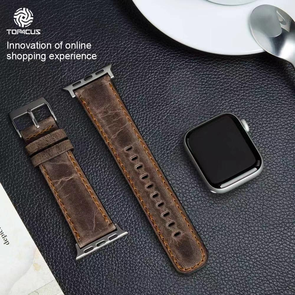 44mm iWatch Genuine Leather Strap for Apple Watch $8.39 + free shipping