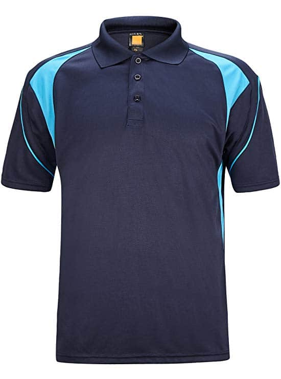 40% Off Men's Short Sleeve Polo Shirts Quick-Dry Sweat-Wicking Tennis T-Shirts for $11.34 + FS w/ Prime