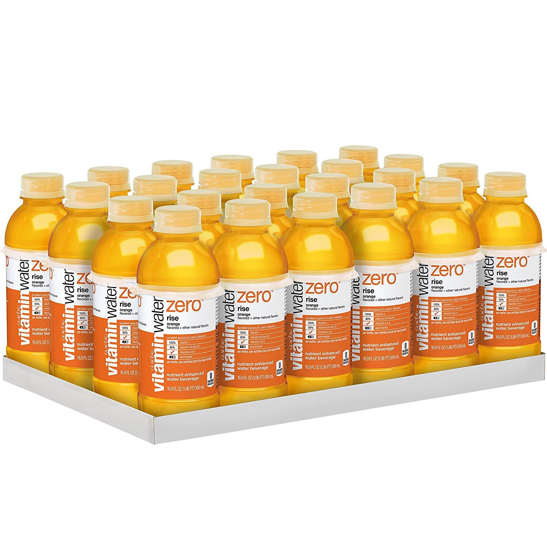 24 Pack vitaminwater zero rise, electrolyte enhanced water w/ vitamins (16.9 fl oz) $13.96