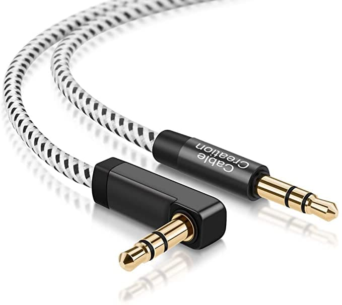 10FT CableCreation 90 Degree 3.5mm Male to Male Audio Cable $7.67 - FS w/ Prime