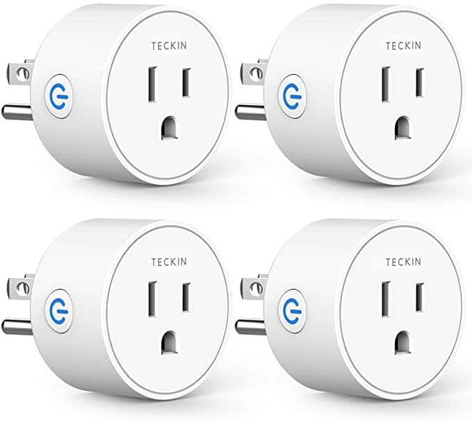 4 Pack Mini Wi-Fi Smart Plug with Timer Function, Compatible with Alexa Google Assistant $19.43