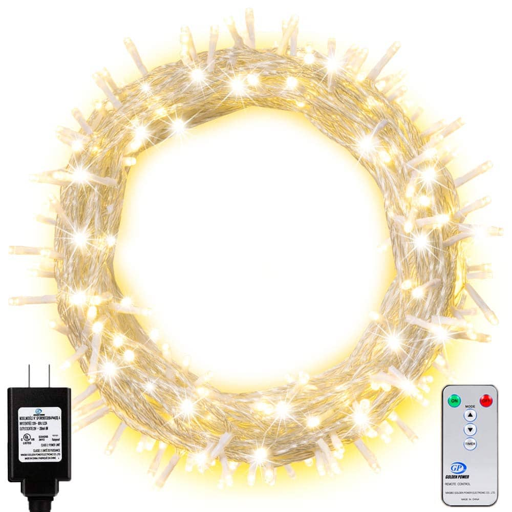 200 LED 66FT Outdoor String Lights with Remote (Warm White) $9.99 + FS w/ Prime