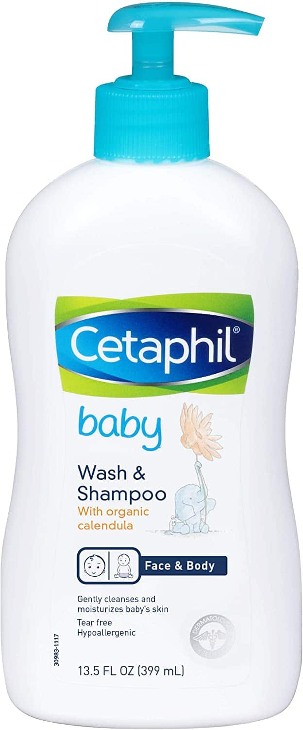 Amazon.com: Cetaphil Baby Wash & Shampoo with Organic Calendula |Tear Free | Paraben, Colorant and Mineral Oil Free�  | 13.5 Fl. Oz: Health & Personal Care $4.97