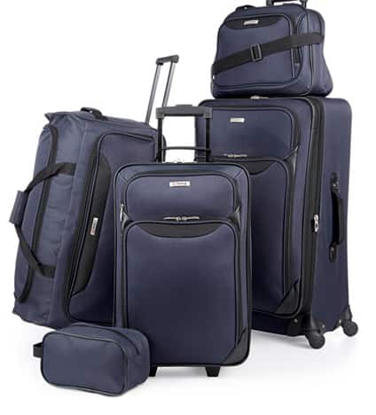 5 piece Luggage Set at Macy's $59.99