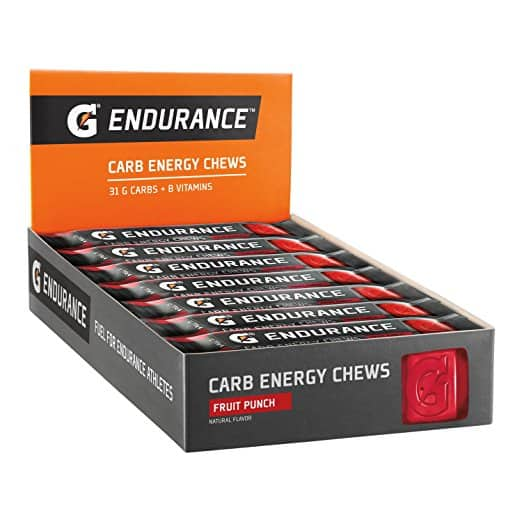 Gatorade Endurance Carb Energy Chews Fruit Punch 21-pack S&S $16.8