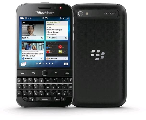 BlackBerry Classic SQC100-2 16GB Unlocked GSM 4G Keyboard Smartphone Black - NEW $249