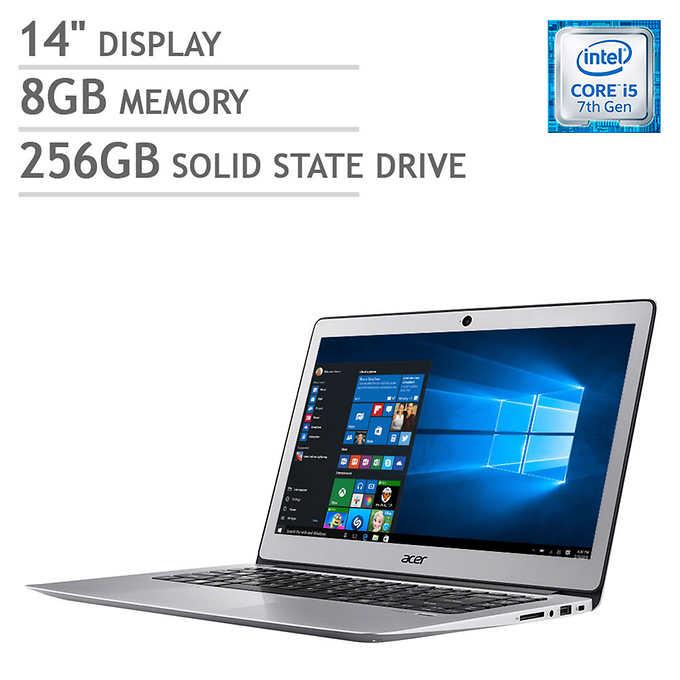 Acer Swift 3 laptop - 14 inch IPS display, i5-7200U, 8GB RAM, 256 GB SSD $500