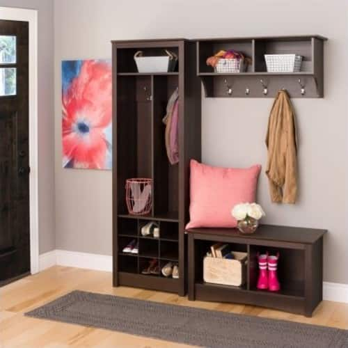Prepac Space-Saving Entryway 3 Piece Organizer in Espresso $355.62 + fs