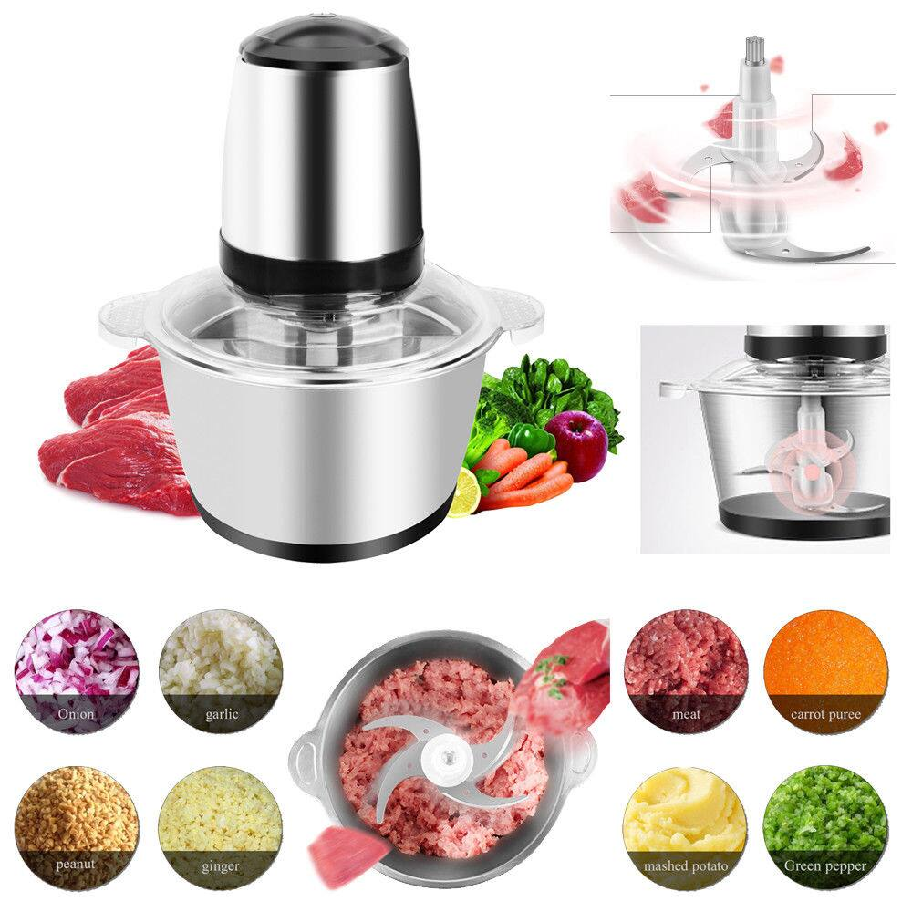 2L Electric Meat Grinder Stainless Steel Sausage Maker Vegetable Cutter 2 Blades $23.95 + fs