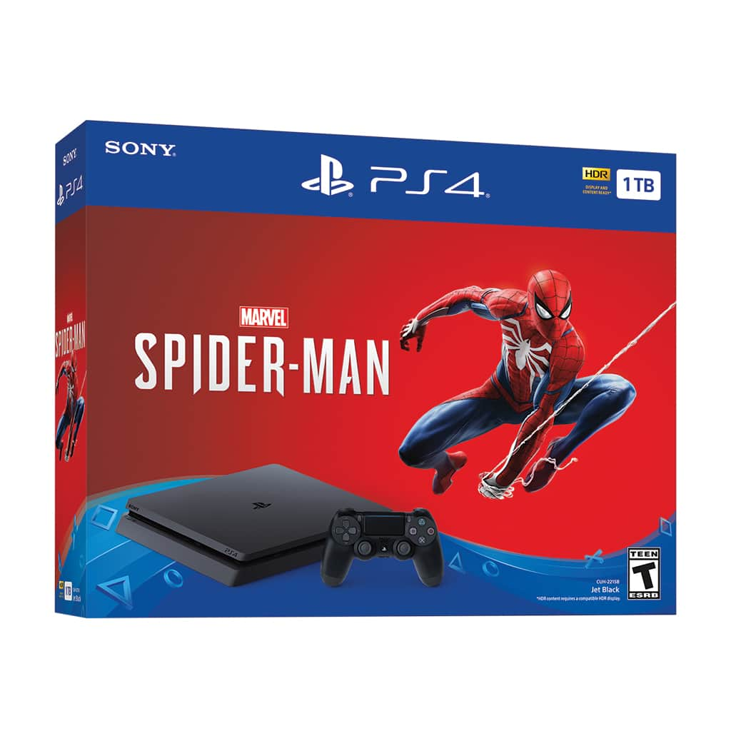 Early Black Friday deal: Sony PlayStation 4 Slim 1TB Spiderman Bundle, Black, CUH-2215B $199