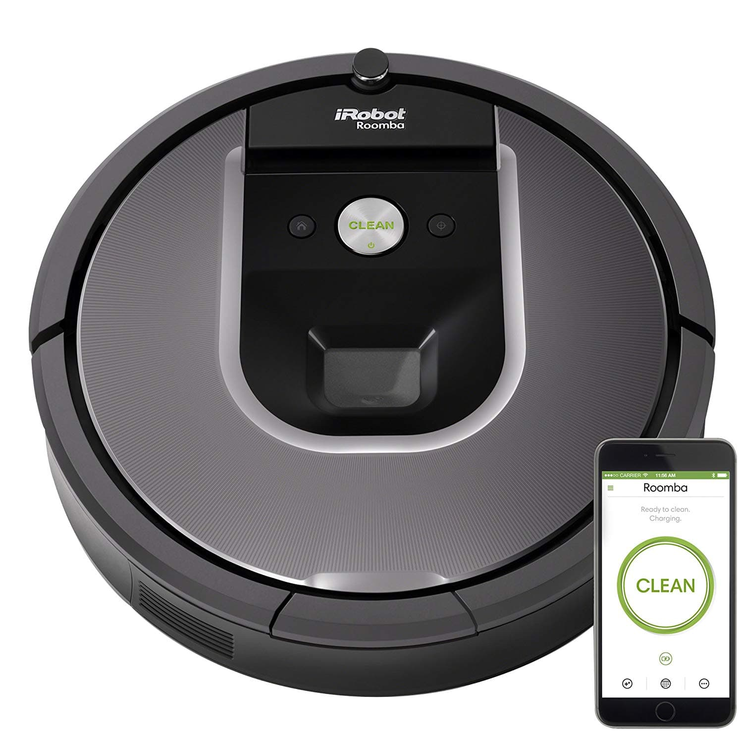 iRobot Roomba 960 Robot Vacuum- Wi-Fi Connected Mapping, Works with Alexa, Ideal for Pet Hair, Carpets, Hard Floors [Roomba 960] $400