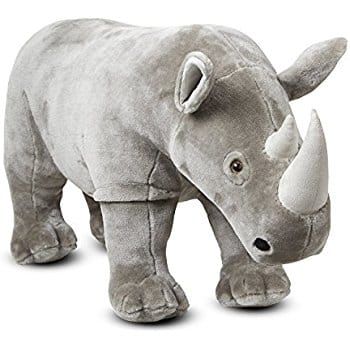 Melissa Doug Giant Rhinoceros Lifelike Stuffed Animal Nearly 3