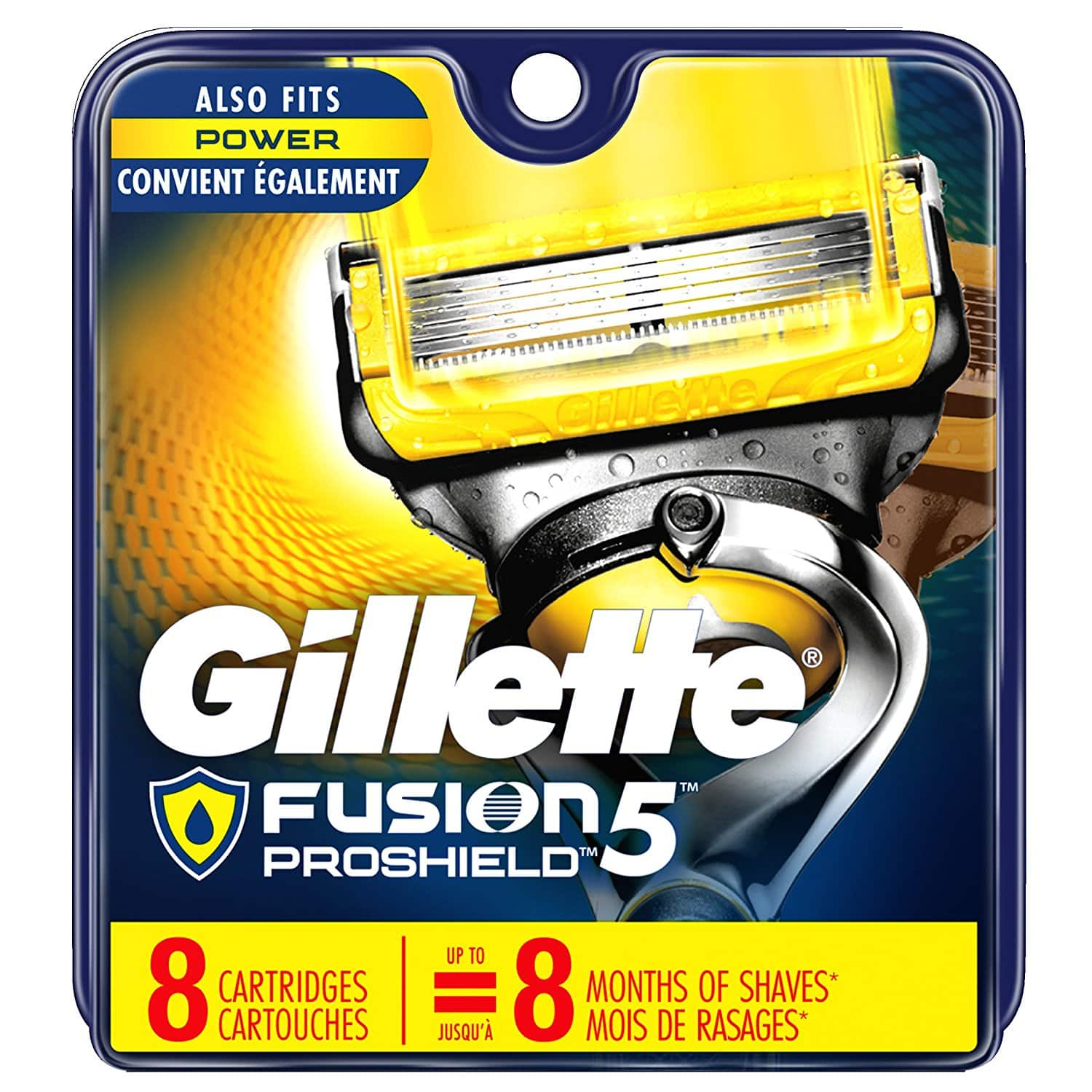 Gillette Fusion5 ProShield Men's Razor Blades, 8 Blade Refills for $23.89 +FS